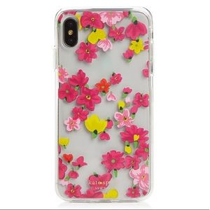 Kate Spade jeweled marker floral clear iphone case
